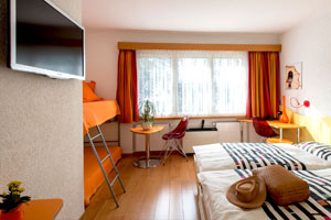Family Room with Private Garage at Hotel Vezia - Lugano